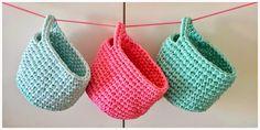 my world of wool: three t-shirt yarn baskets and Dillon - Thirteen Thirtyfive