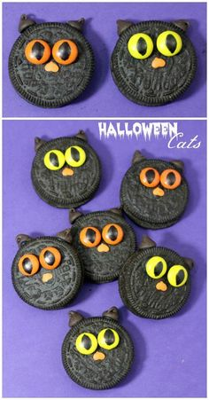 Halloween Black Cat Oreos Recipe for an easy Halloween Party Treat or Snack for…