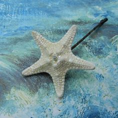 Starfish Diamond Bobby Pin  Diamond Star by ShellScapes on Etsy