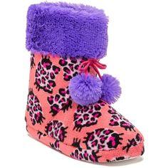 Pom Pom Faux Fur Slipper Bootie by Hello Kitty on Leopard Slip On, Leopard Shoes, Bow Shoes, Slip On Shoes, Hello Kitty House, Pom Pom Slippers, Casual Chic Style, Faux Fur, Winter Hats