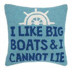 I Like Big Boats & I Cannot Lie Hook Pillow