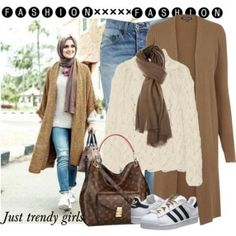 long brown cardigan hijab style,Hijab trends mix and match http://www.justtrendygirls.com/hijab-trends-mix-and-match/