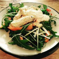 Pawpaw and Chicken Salad. Delicious juicy and light.  #chickensalad #healthyhermanus #eateryhermanus #saladforlunch #green #pawpaw