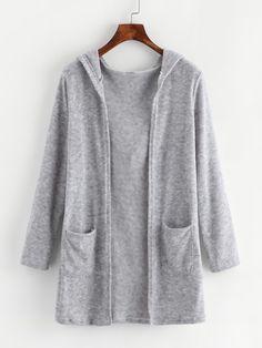 Shop Dual Pocket Hooded Cardigan online. SheIn offers Dual Pocket Hooded Cardigan & more to fit your fashionable needs.