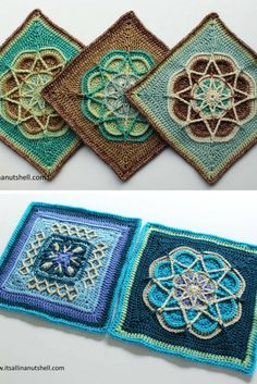 3 gorgeous square crochet patterns