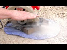 How to cut bricks with a Circular Saw / Skil Saw Dry Cut Pavers - YouTube