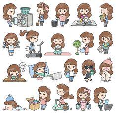 Premium Vector Clipart Cute Me Kawaii Girl Cute Girl image 1 Printable Planner Stickers, Journal Stickers, Kawaii Stickers, Cute Stickers, Kawaii Girl Drawings, Cute Doodles, Vector Clipart, Cute Illustration, Cute Art