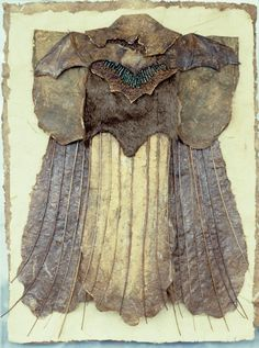 Head Woman of the Bat Totem — Inga Hunter Textiles, Quilt Modernen, Art Brut, Nuno Felting, Textile Artists, Fabric Art, Mixed Media Art, Wearable Art, Collage Art