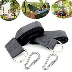 CBTONE Tree Swing Straps Hanging Kit with 2 Safety Lock Carabiner Holds 2200 lbs Easy  Fast Installation Perfect for Tree SwingsHammocksDisc Swings *** BEST VALUE BUY on Amazon #HammockStraps Hammock Straps, Swings, Safety, Kit, Amazon, Easy, Stuff To Buy, Security Guard, Amazons