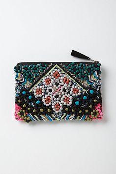 Tacuba Pompom Pouch #bags  $68.00