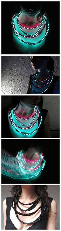 led necklace music festival