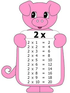 The Multiplication Table Preschool Printables, Preschool Math, Teaching Math, Activities For Kids, Maths Times Tables, Math Tables, Multiplication Tables, File Folder Activities, Dora