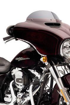 Amplify your ride.   Harley-Davidson Electra Glo Fairing Edge Light Kit