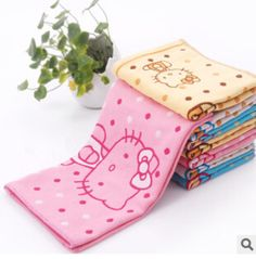 Kawaii Hello Kitty Doraemon 100% Cotton Face Towel Quick-Dry Face Towel Woven Hand Face Beach Bath Boby Shower Towel K7551