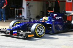 Robin Frijns in Barcelona GP2 testing with Russian Time GP2