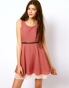 Vero Moda Mini Belted Dress with Aeroplane Print £32