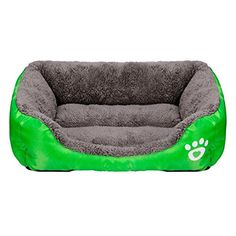 Baishitop Cat Dog Pet Bed Soft Warm Kennel Puppy Bed Small Medium Dog Mat Blanket (M-15KG Pet, Green) *** Want to know more, click on the image.