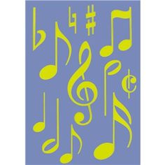 Show-Offs Music Notes Stencil | Shop Hobby Lobby $3