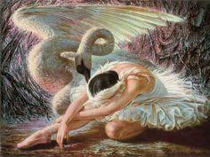 bohemea: The Dying Swan by Vladimir Tretchikoff, my favourite piece of artwork. Ballet Painting, Dance Paintings, Ballerina Art, Ballet Art, Beautiful Swan, Ballet Beautiful, Kitsch Art, South African Artists, Swan Lake
