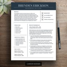 modern resume template resume cover letter for ms word includes writing tips fully customizable instant - Apple Pages Resume Templates
