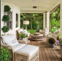 There's Just Something About This Sweet Shady Lane Porch! www.sweetshadylane.com
