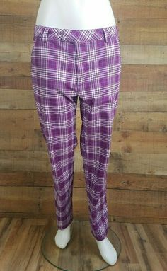 Plaid Golf Pants, Printed Skinny Jeans, Flare Leg Jeans, Leather Blazer, Wonderful Things, Pockets, Sport, Clothes For Women, Zip