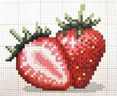 New fruit pattern charts ideas Cross Stitch Fruit, Cross Stitch Kitchen, Cross Stitch Love, Cross Stitch Cards, Cross Stitch Flowers, Cross Stitch Designs, Cross Stitching, Cross Stitch Embroidery, Cross Stitch Patterns