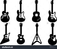 Guitar Silhouettes - vector
