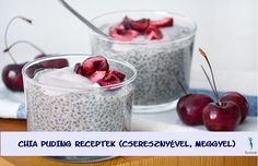 This creamy chia seed pudding combines the power of chia's with antioxidant-rich cherries. Get the nutritious dessert recipe here. Chia Puding, Pudding Recipes, Dessert Recipes, Recipe For 4, Chia Seeds, Superfood, Benefit, Cherry, Healthy Eating