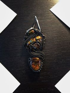 Sterling .925 and .999 Fine Silver Fire Agate by RockRunnerGems