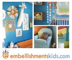 Embellishments Kids: Gender Neutral, Color Not So Neutral - Our Latest Baby Nursery featured in Parade of Homes Tour