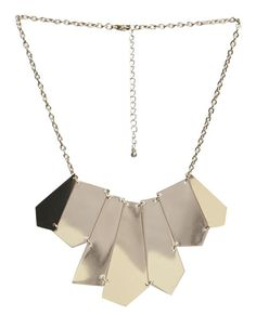 Abstract Metal Statement Necklace - WetSeal