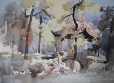Liu Yi - watercolor