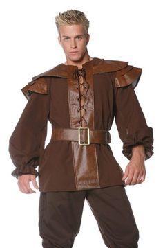Amazon.com: Underwraps Adult Renaissance Warrior Pirate Mens Medieval Costume: Clothing