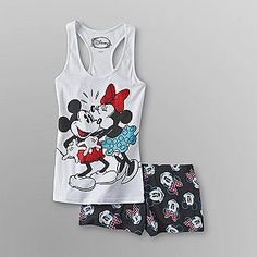 Mickey & Minnie Tank & Shorts PJ set. I got these after Christmas over half price, super cute & comfy!