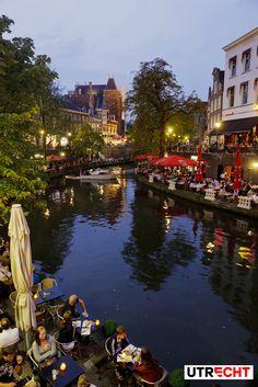 Terraces along canal. #Utrecht