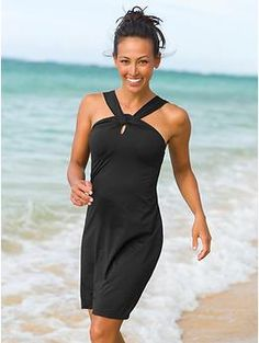 Kiki Swim Dress | This sleek, stretchy dress is made for the beach with full adjustability and our UPF 50+ swim fabric.