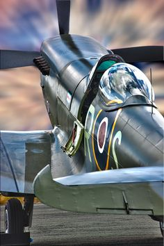 """Vintage Aircraft thephotonomad: """"The Spit """" Never in the field of human conflict was so much owed by so many to so few, - Ww2 Aircraft, Fighter Aircraft, Military Aircraft, Fighter Jets, Supermarine Spitfire, Ww2 Planes, Aviation Art, Subaru, Wwii"""
