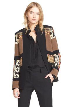 Etro Mix Print Wool Blend Jacket