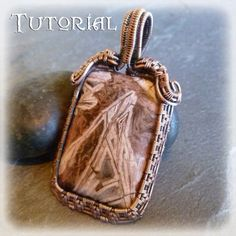 TUTORIAL Soul Window Pendant Wire Wrapped Lesson Wire
