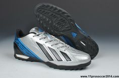 Sale Discount Silver Black Blue Adidas F10 TRX TF Messi 7 Shoes Store