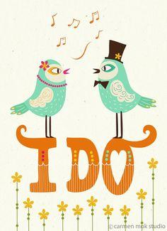 """I Do"" wedding stationary"