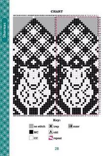Knitted Mittens Pattern, Fair Isle Knitting Patterns, Knit Mittens, Knitting Charts, Knitted Gloves, Knitting Stitches, Knitting Socks, Graph Design, Stuffed Animal Patterns