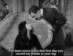 I hope to have a love one day like Morticia and Gomez Addams…