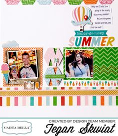 """""""Soak Up The Sun"""" layout by @lovestoscrap123 for #cartabellapaper"""