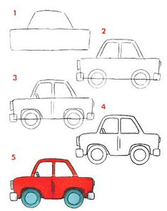 how to draw a small car easy