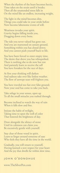 Return To Yourself by John O'Donohue - Inspiring Poems | The Silver Pen