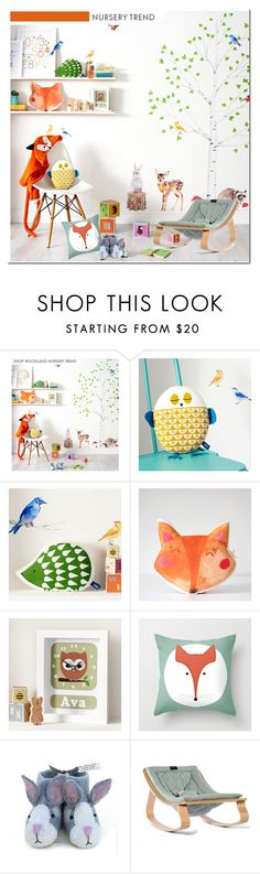 """Nursery Trend - Animal Kingdom"" by lidia-solymosi ❤ liked on Polyvore featuring interior, interiors, interior design, home, home decor, interior decorating and Sew Heart Felt"