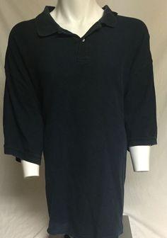 Harbor Bay Navy Blue XXXXXXLT Short Sleeve Polo Shirt 6XLT #HarborBay #PoloRugby