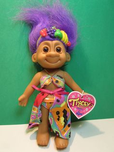 "TROPICAL TRACEY - 7"" Russ Troll Doll - NEW IN BAG - Very Rare - COLLECTORS' ITEM #Russ #TrollDoll"